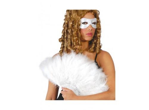 Abanico de plumas blancas