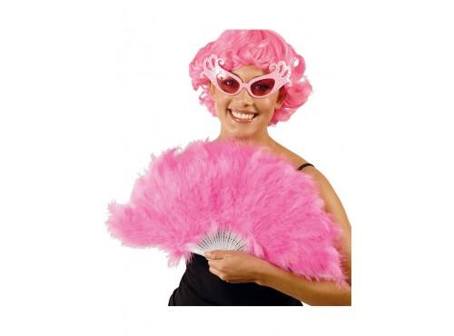 Abanico de plumas rosas
