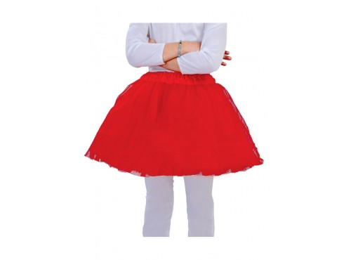 Tutú infantil rojo
