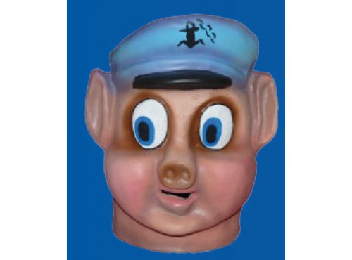 Cabezudo infantil cerdito marinero