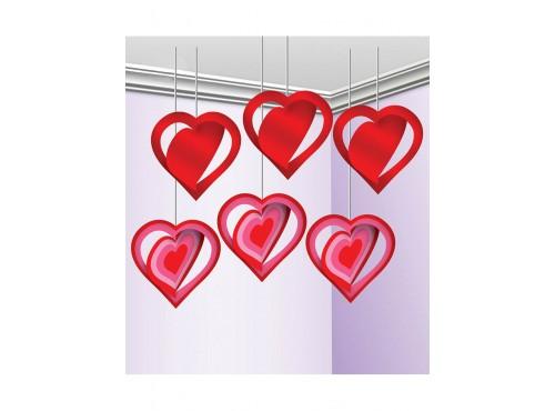 Pack de 3 Colgantes Decorativos Corazón