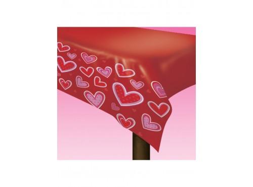 Mantel de corazones San Valentín
