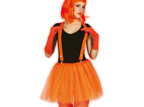 Tutú naranja neón para mujer