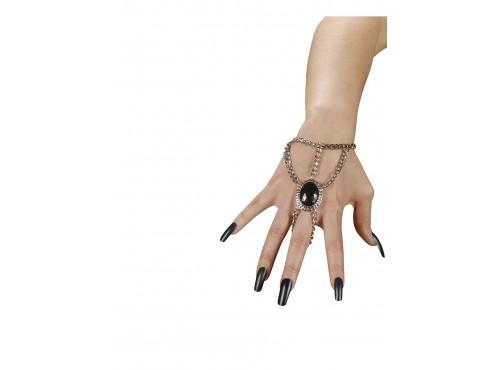 Anillo-pulsera con piedra negra