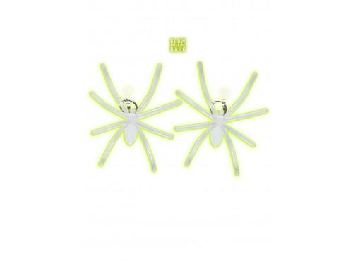Pendientes de araña fluorescentes
