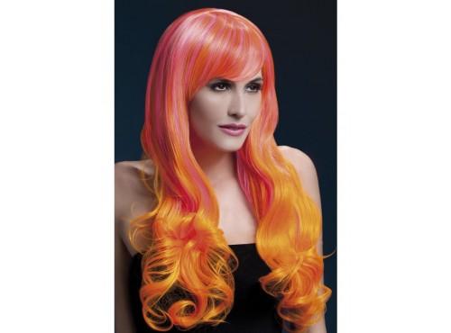 Peluca Emily rosa y naranja