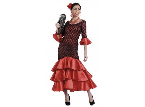 Disfraz de sevillana flamenca