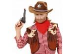 Sombrero de sheriff marrón infantil