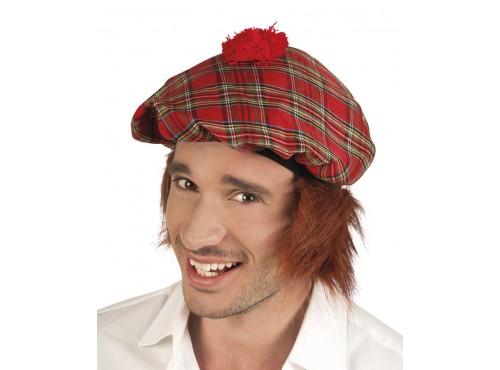 Sombrero de escocés con pelo para hombre