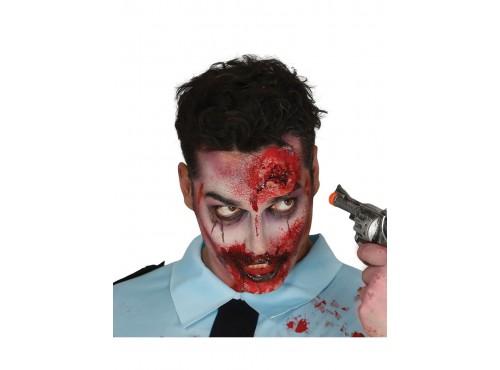 Cicatriz herida de bala de látex