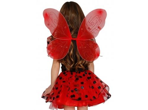 Alas de mariposa roja para niña