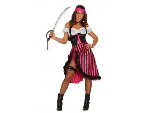 Disfraz de pirata rosa para mujer