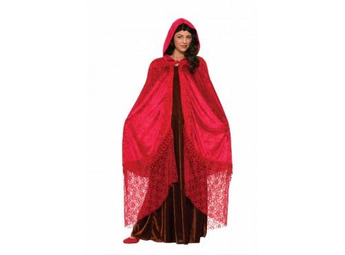 Capa de sacerdotisa roja para mujer
