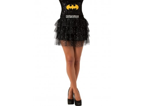 Falda con lentejuelas de Catwoman para Mujer
