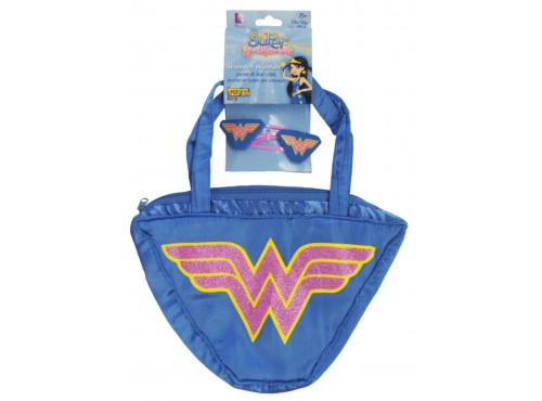 Set bolso y clip para el pelo de Wonder Woman My Super Bestfriends para niña