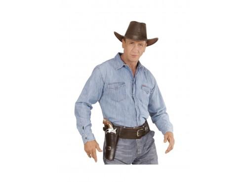 Cinturón con funda para pistola marrón para hombre