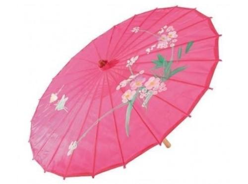 Sombrilla rosa de geisha