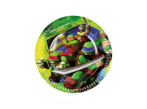 Set de 8 platos grandes de Las Tortugas Ninja