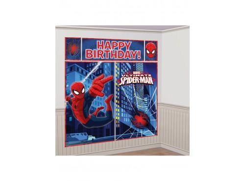 Decoración De Pared Feliz Cumpleaños De Ultimate Spiderman