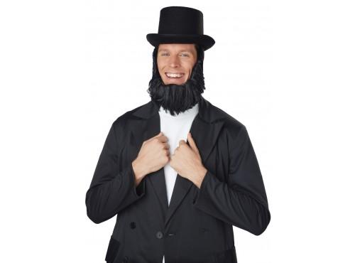 Sombrero de Abraham Lincoln con barba para hombre