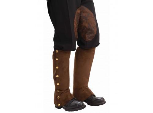 Cubrebotas de Steampunk marrón para hombre