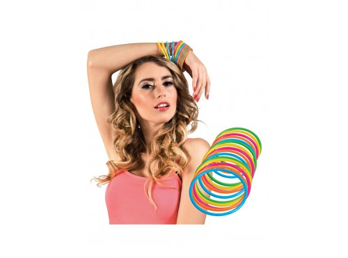 Set de 15 pulseras multicolor para adulto