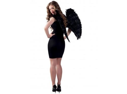 Alas negras de ángel gótico para adulto