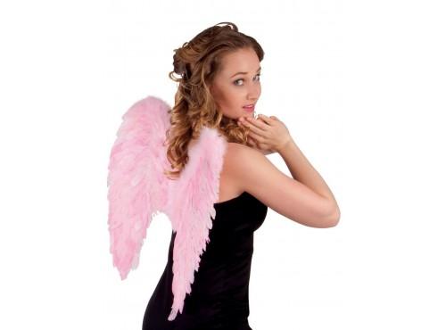 Alas de plumas rosas para adulto