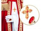 Kit de anillo y cruz de Cardenal para adulto