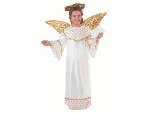 Disfraz de Ángel dorado niña