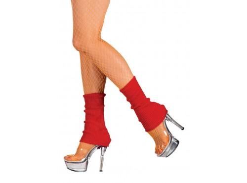 Calentadores rojos cortos para mujer
