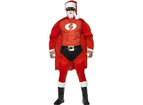 Disfraz de Super Papá Noel musculoso