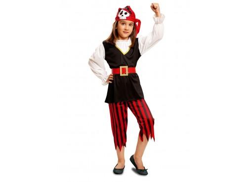 Disfraz de pirata calavera para niña