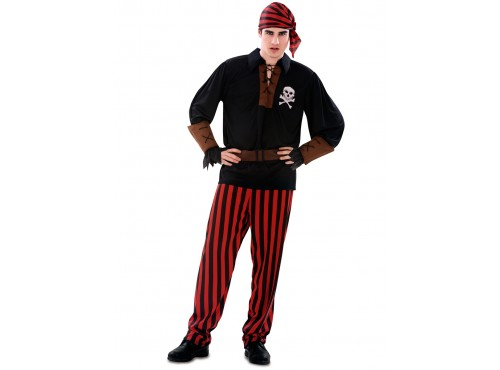 Disfraz de pirata bandido para hombre
