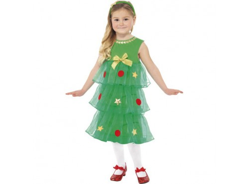 Disfraz de Árbol de Navidad para niña