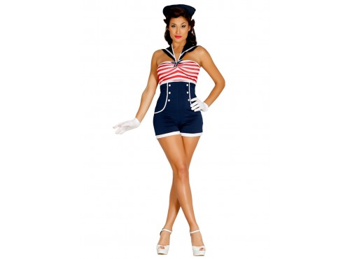 Disfraz de marinera pin up para mujer