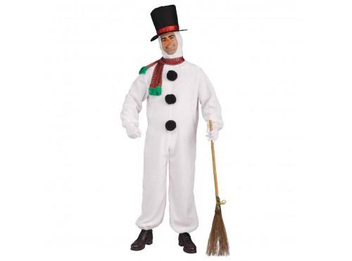 Disfraz de muñeco de Nieve de peluche