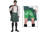 Disfraz de escocés besa mis tréboles
