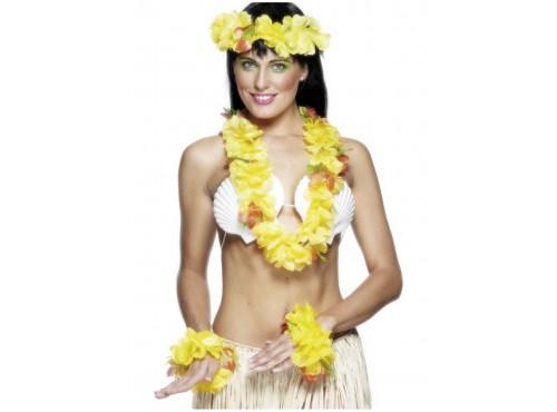 Set hawaiano amarillo