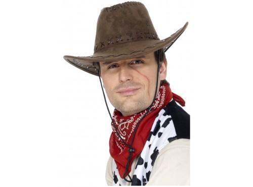 Sombrero de vaquero marrón estilo ante