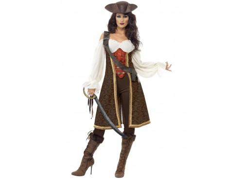 Disfraz de moza pirata de alta mar