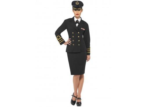 Disfraz de oficial de la marina para mujer