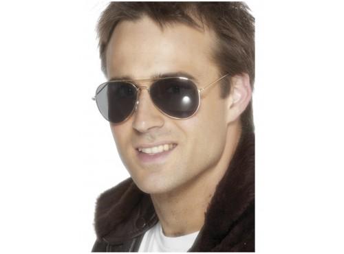 Gafas de aviador doradas