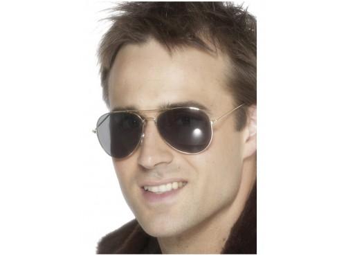 Gafas de aviador plateadas