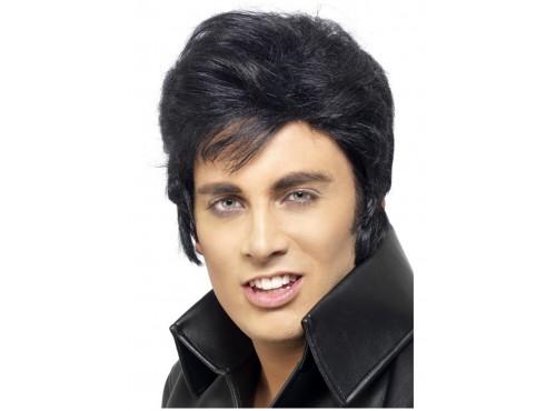 Peluca de Elvis negra