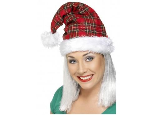 Gorro de Santa de cuadros escoceses
