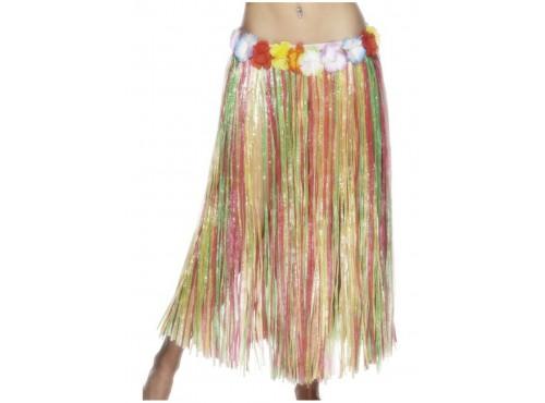 Falda hawaiana multicolor