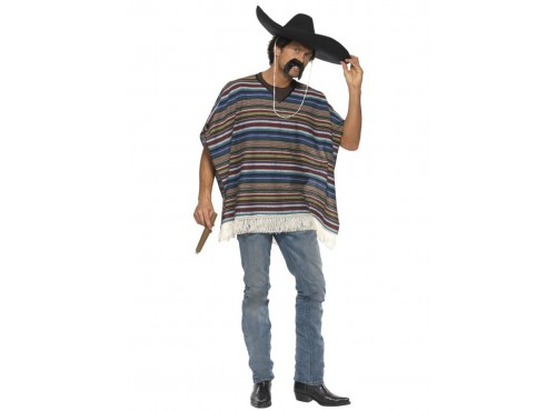 Poncho de aspecto real