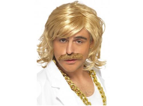 Set de peluca y bigote rubio para hombre