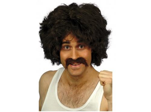 Set de peluca y bigote retro para hombre